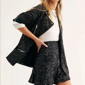 We The Free  Midnight message Moto sequin sparkle
